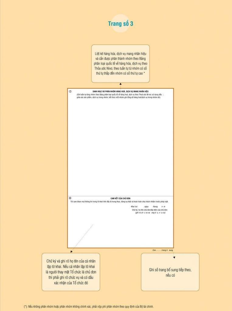 Hướng dẫn làm tờ khai đăng ký nhãn hiệu trang thứ ba