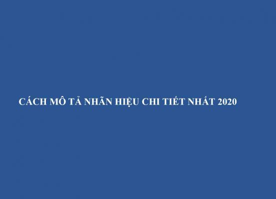 Cach Mo Ta Nhan Hieu