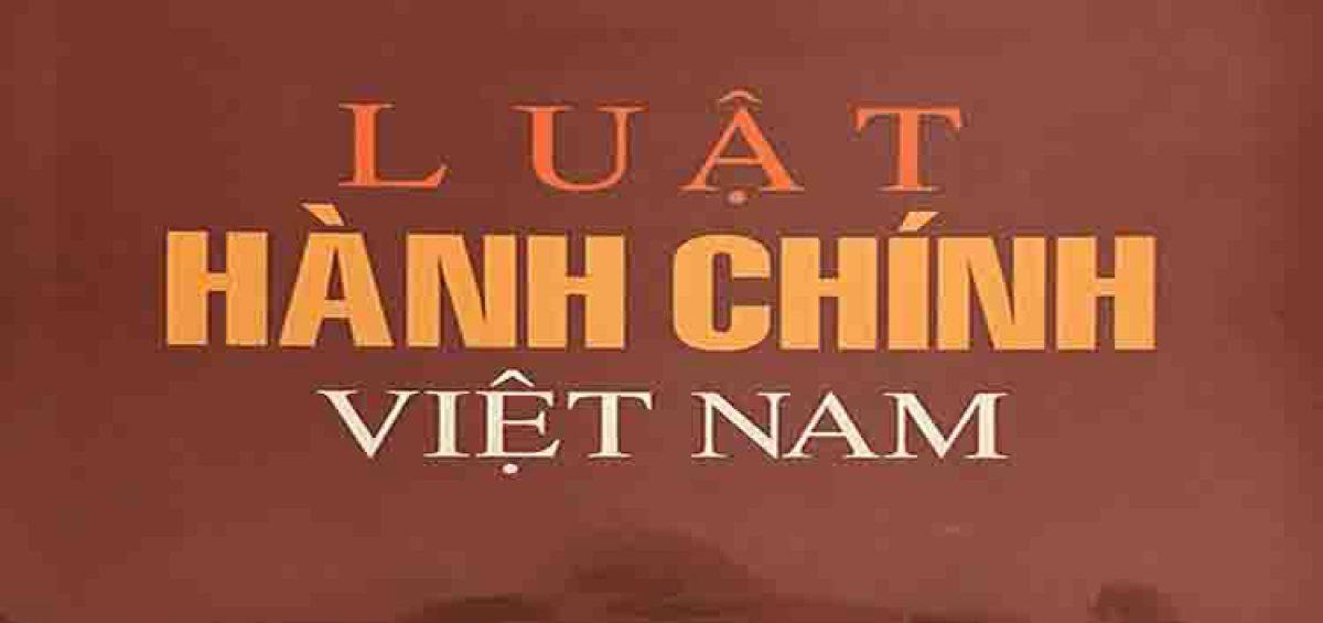 Luat Hanh Chinh Viet Nam