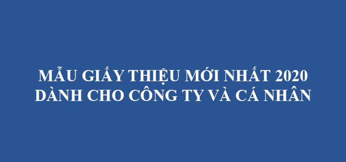 Mau Giay Gioi Thieu Moi Nhat 2020