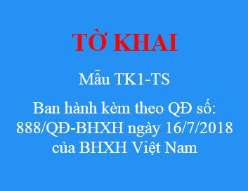 Mau Tk1 Ts Ban Hanh Kem Theo Qd So 888 Qd Bhxh