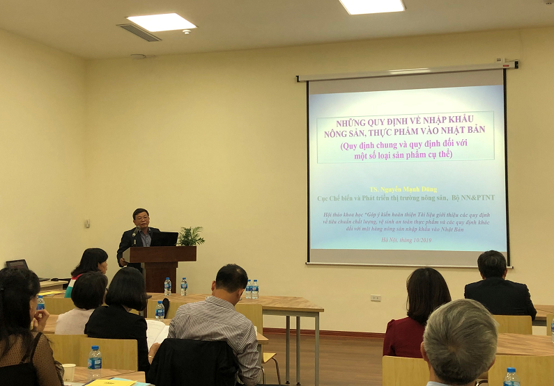 Mr. Nguyen Manh Dung, Agro Processing And Market Development Agency (ministry Of Agriculture And Rural Development) Delivered Speech At The Workshop