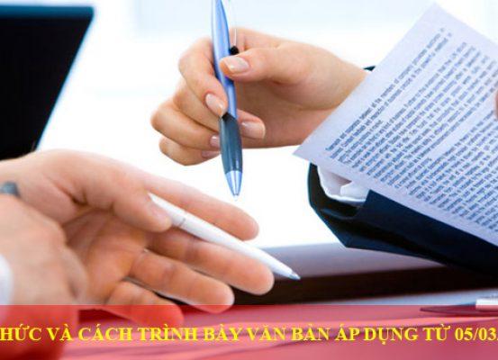 The Thuc Va Cach Trinh Bay Van Ban Ap Dung Tu 05 3 2020